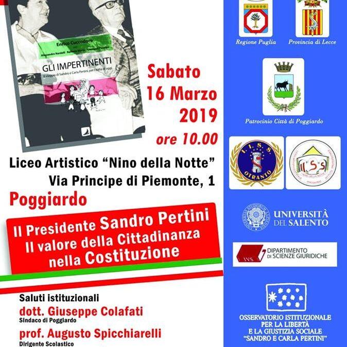 """""""Il Presidente Sandro Pertini, il valore della Cittadinanza nella Costituzione"""""""